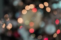 Bokeh Blurred Lights Multi Color royalty free stock image