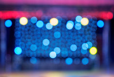 Bokeh of blurred stage lights Stock Image