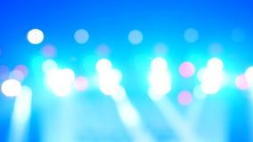 Bokeh bonito de projetores de iluminação brancos brilhantes video estoque