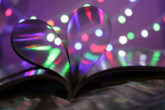 Bokeh in Book stock photography