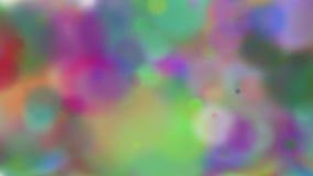 Bokeh borrado Bokeh colorido dos círculos Partículas coloridas animados vídeos de arquivo