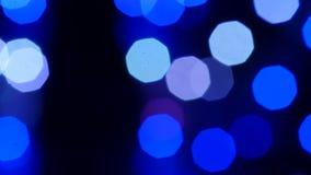 Bokeh borroso colorido del fondo del extracto de la luz Cámara lenta metrajes