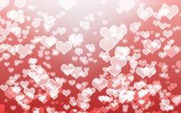 Bokeh branco do coração Fotografia de Stock Royalty Free