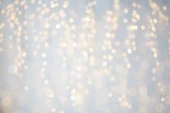 Bokeh brouillé de lumières de vacances de Noël Photo libre de droits