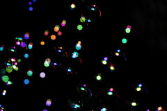 Bokeh with bubbles Royalty Free Stock Photography