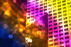 Bokeh and buildings Stock Images