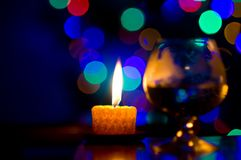 Bokeh with candle Stock Images