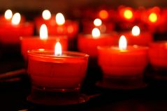 Bokeh of candles Stock Photos
