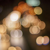 Bokeh car lights. Royalty Free Stock Photos