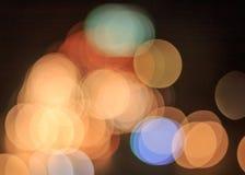 Bokeh car lights. Stock Image