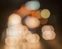 Bokeh car lights. Stock Photos