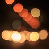 Bokeh car lights. Stock Images