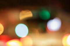 Bokeh car lights. Royalty Free Stock Photo