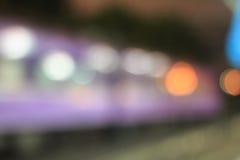Bokeh car lights. Royalty Free Stock Image