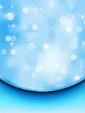 Bokeh card with blue silk. EPS 8 Stock Image
