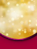 Bokeh card with red fabric. EPS 8 Stock Image