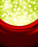 Bokeh card with red silk Royalty Free Stock Photos