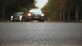 Bokeh. Cars on the road stock video