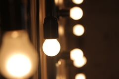 Bokeh ceiling lamps Stock Photo