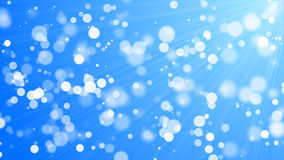 Bokeh - cerchi bianchi, fondo blu Fotografie Stock
