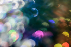Bokeh  for Christmas background,. Okeh of lights on the Christmas tree in blurred festive night Stock Photos