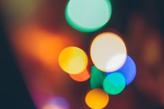Bokeh christmas blurry background. The bokeh christmas blurry colorful holiday background Royalty Free Stock Images