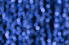Bokeh. Christmas light blue blurred background Royalty Free Stock Photo