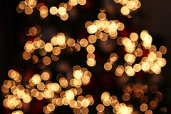Bokeh christmas lights. Stock Image