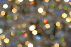 Bokeh, Christmas lights blurred in the background. Royalty Free Stock Photos