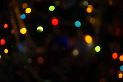 Bokeh of Christmas Lights Royalty Free Stock Photos