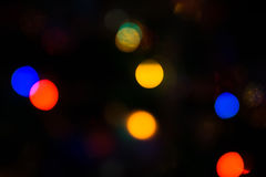 Bokeh of Christmas Lights Stock Photography
