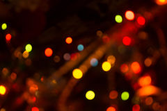 Bokeh of Christmas Lights Royalty Free Stock Photography