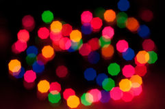 Bokeh Christmas Lights 4. Macro lens used on Christmas lights to get different affects Royalty Free Stock Photography