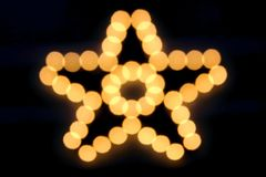 Bokeh of Christmas Star Royalty Free Stock Photos