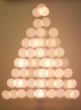Bokeh Christmas tree Stock Image