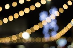 Bokeh of Christmastime. Seasonal lights create abstract at christmastime stock photos