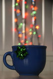 bokeh in a tea mug Stock Photos