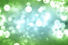 Abstract blue green background. Bokeh circles green blue background Royalty Free Stock Images