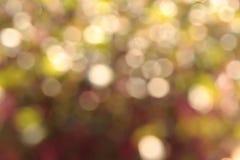 Bokeh circulaire abstrait brouillé de réflexions de la lumière Photographie stock libre de droits
