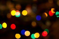 Bokeh circular abstracto de las luces de la Navidad Imagenes de archivo