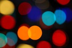 Bokeh cirklar ljus Arkivfoton