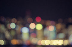 Bokeh in city Royalty Free Stock Photography