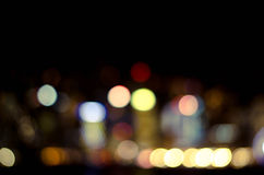 Bokeh in city Royalty Free Stock Images