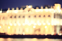 Bokeh city lights Royalty Free Stock Images