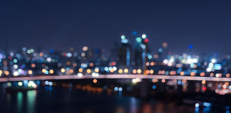 Bokeh city lights background. Blurred bokeh city lights background Royalty Free Stock Images