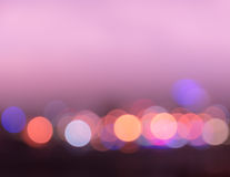 Bokeh city lights background Stock Photography