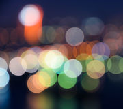 Bokeh city lights background Royalty Free Stock Images