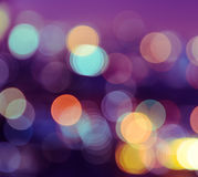 Bokeh city lights background Royalty Free Stock Photography