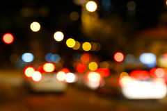 Bokeh  city lights background Stock Images