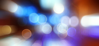 Bokeh city lights blurred background Stock Images